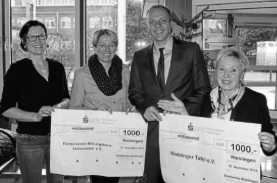 Spender der Stadtwerke Waiblingen